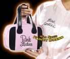 FANCY DRESS BAG # PINK LADIES GREASE PINK BOWLING BAG